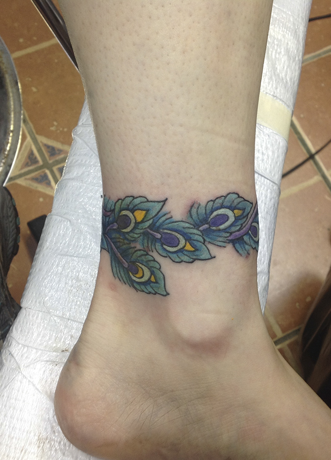Man 39 s ruin tattoos for Ankle tattoo cover ups